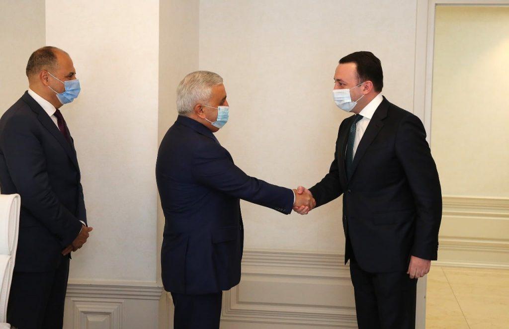 Ираклий Гарибашвили встретился с президентом SOCAR Ровнагом Абдуллаевым