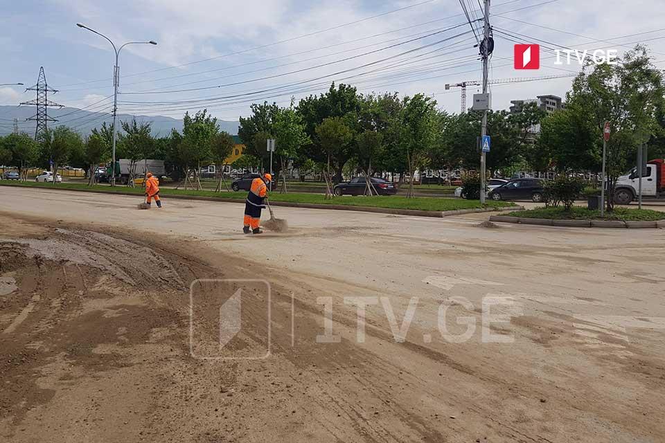 В тбилисском районе Диди Дигоми и деревне Дигоми подсчитывают ущерб от ночного ливня