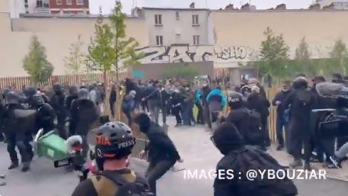 პარიზში მშრომელთა საერთაშორისო დღეს ქუჩაში გამოსულ დემონსტრანტებსა და პოლიციას შორის დაპირისპირება მოხდა
