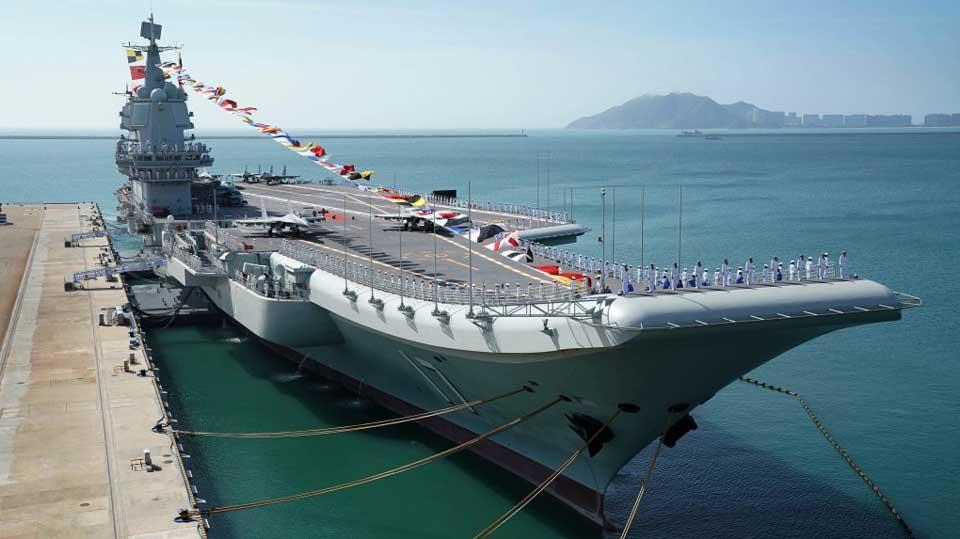 ჩინეთის სამხედრო ავიამზიდის ჯგუფმა სამხრეთ ჩინეთის ზღვაში წვრთნები გამართა