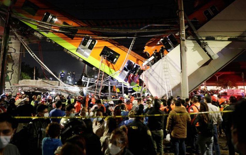 მეხიკოში, მეტროში ხიდის ჩამონგრევის შედეგად 15 ადამიანი დაიღუპა და 70 დაშავდა