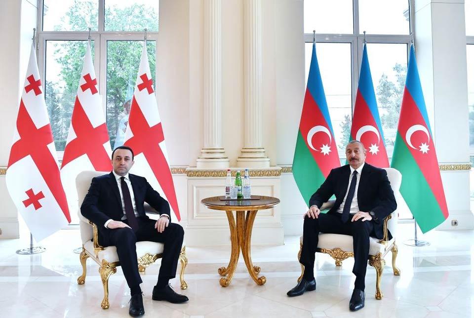 Ираклий Гарибашвили встретился с Ильхамом Алиевым [фото]