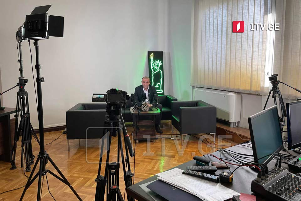 Girchi party sets up a TV studio in parliament