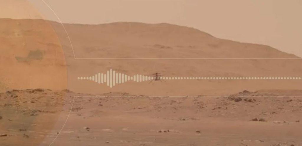"""მოუსმინეთ ვერტმფრენ """"ინჯენუიტის"""" მარსზე ფრენის ხმას — #1tvმეცნიერება"""