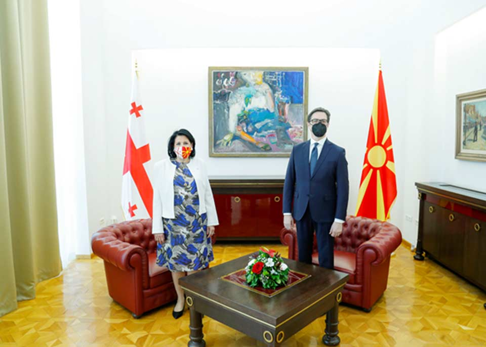 ჩრდილოეთ მაკედონიის პრეზიდენტი - მხარს ვუჭერთ საქართველოს უფლებას, დაამყაროს ყველაზე მჭიდრო ურთიერთობა ნატო-სთან