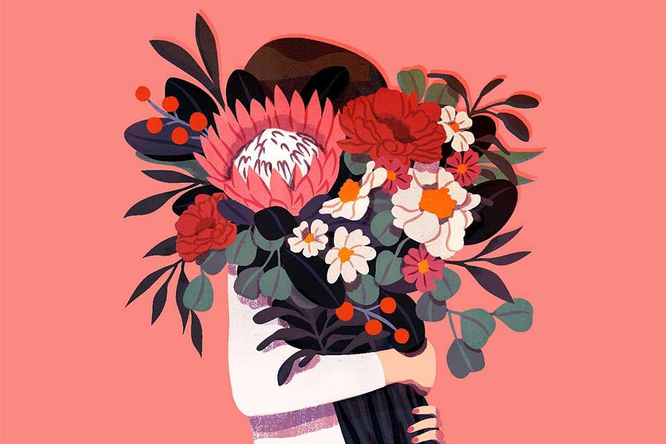 პიკის საათი - თავის ქალა სიმბოლური ყვავილებით