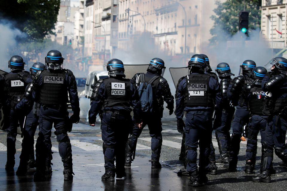 პარიზში პალესტინელთა მხარდამჭერი აქციის მონაწილეებსა და პოლიციას შორის შეტაკება მოხდა