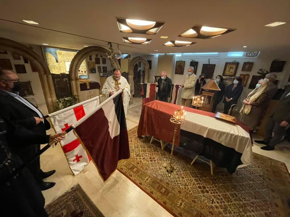 პარიზში, წმინდა ნინოს ქართულ ეკლესიაში გენერალ გიორგი კვინიტაძისა და მისი მეუღლის, მარიამ მაყაშვილის სულის მოსახსენებელი პანაშვიდი გადაიხადეს