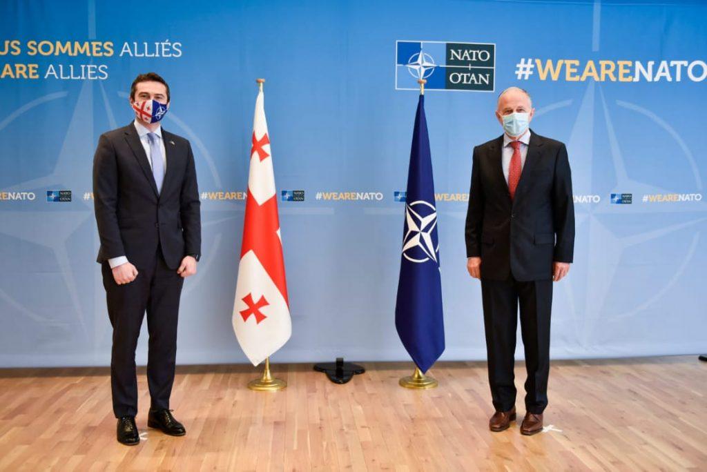 Каха Кучава встретился с заместителем генерального секретаря НАТО Мирча Джоанэ
