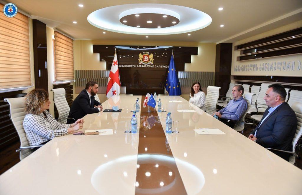 ირაკლი შოთაძე ევროკავშირის ერთ-ერთი პროექტის ხელმძღვანელს, ტერი სქეიფს შეხვდა