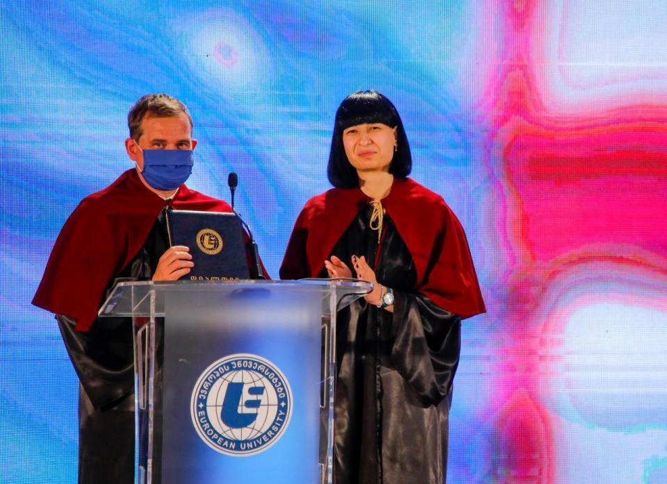 """დიეგო კოლასს """"ევროპის უნივერსიტეტის"""" საპატიო დოქტორის წოდება მიენიჭა"""