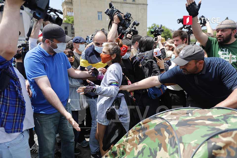 """На акции противников """"Намахвани ГЭС"""" произошло противостояние"""