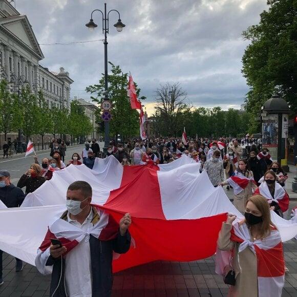Акции в поддержку задержанного в Беларуси Романа Протасевича прошли в разных странах мира