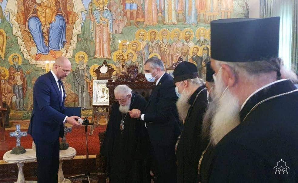 ილია მეორე უკრაინის პრემიერ-მინისტრს შეხვდა