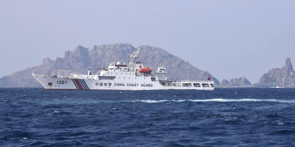 აღმოსავლეთ ჩინეთის ზღვაში არსებულ სადავო კუნძულებთან მყოფი ჩინური ხომალდების გამო, იაპონიის ხელისუფლება პროტესტს გამოთქვამს