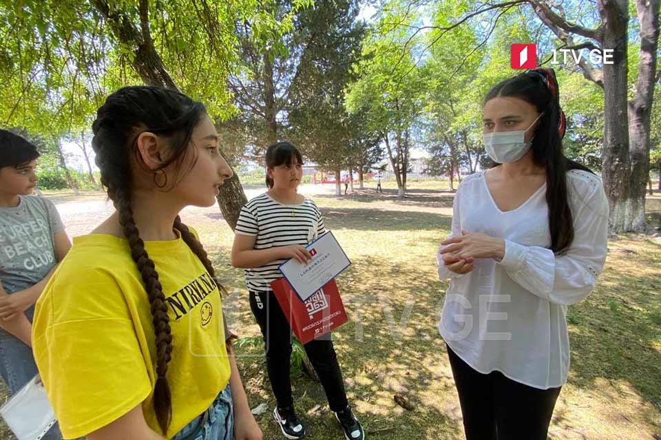 Վրաստանի Առաջին ալիքի թիմը «Մեր վրաց լեզուն» նախագծի շրջանակներում շարունակում է հանդիպումները առցանց-օլիմպիադայի մասնակիցների հետ