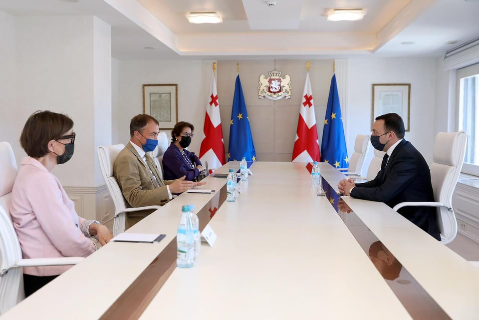 PM and Co-Chairs of Geneva Talks discuss situation in occupied territories