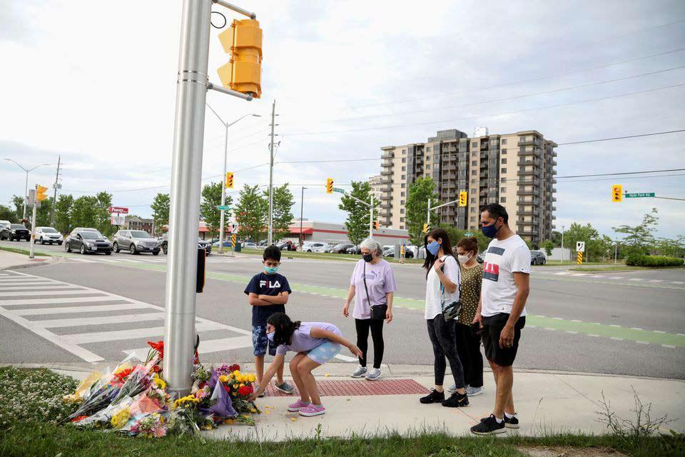 """""""როიტერი"""" - კანადაში სატვირთოს შეჯახების შედეგად მუსლიმი ოჯახის ოთხი წევრის გარდაცვალება სიძულვილის ნიადაგზე ჩადენილ მკვლელობად შეფასდა"""