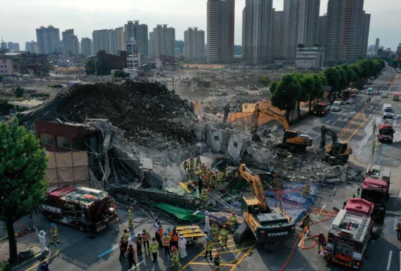 სამხრეთ კორეაში ხუთსართულიანი შენობის ჩამონგრევის შედეგად, ცხრა ადამიანი დაიღუპა და რვა დაშავდა