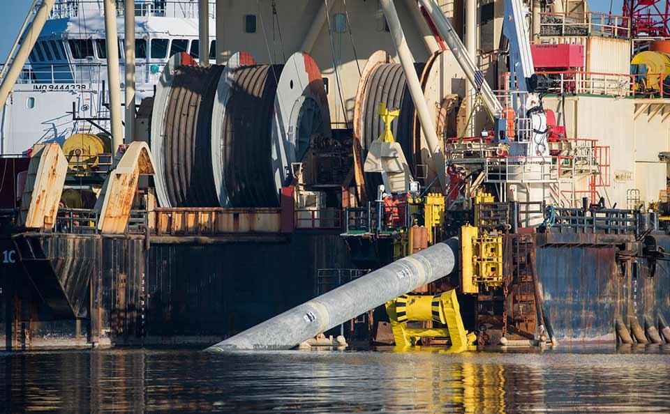 """გაზსადენ """"ჩრდილოეთ ნაკადი 2""""-ის ოპერატორი კომპანია აცხადებს, რომ ქსელის პირველი ნაწილის მოწყობა ტექნიკურად დასრულებულია"""