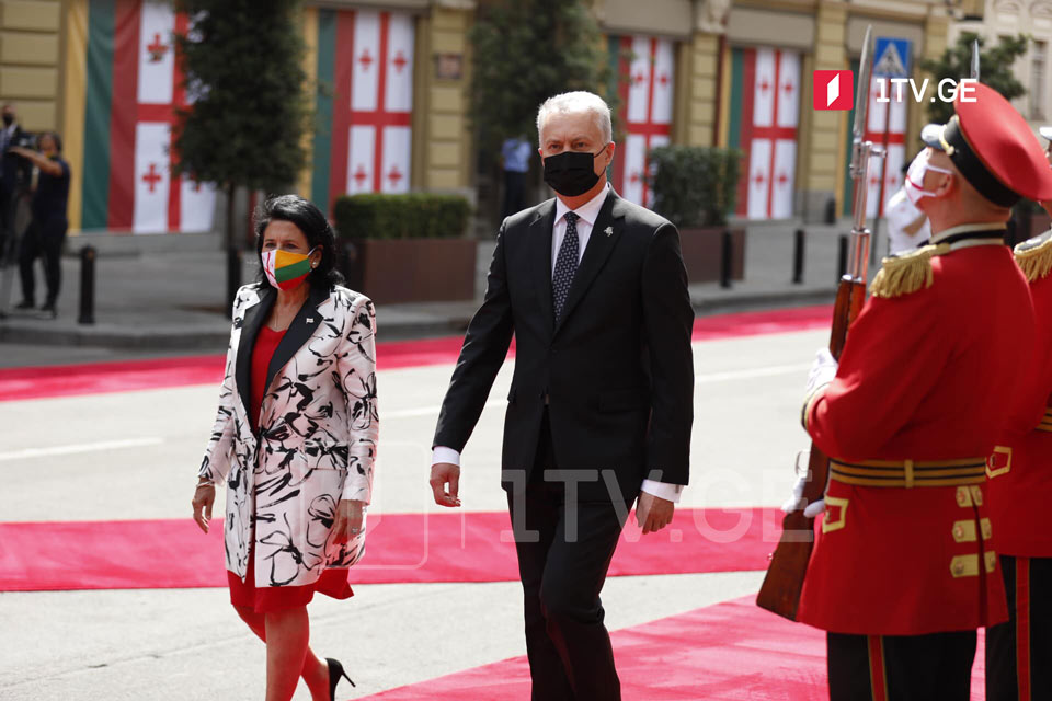 Օրբելիանիների պալատում կայացել է Լիտվայի նախագահի դիմավորման պաշտոնական արարողությունը