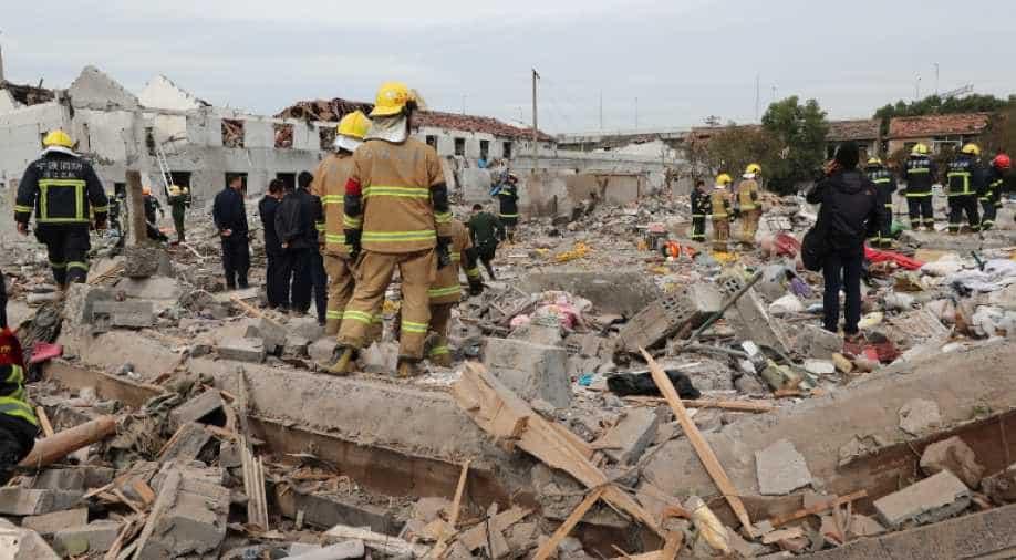 ჩინეთის ქალაქ შაიანში მომხდარ აფეთქებას 12 ადამიანი ემსხვერპლა