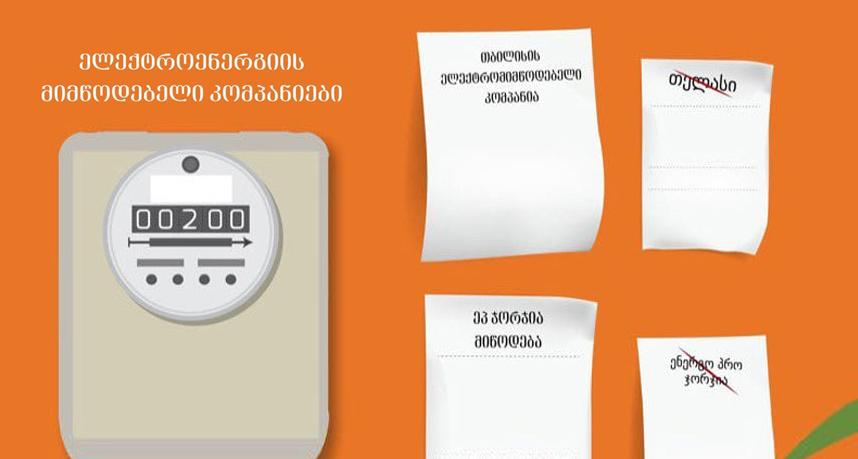 """""""თელასისა"""" და """"ენერგო პრო ჯორჯიას""""ნაცვლად, თბილისსა და რეგიონებში ელექტროენერგიის მიწოდებას """"თელმიკო"""" და """"ეპ ჯორჯია მიწოდება"""" განახორციელებენ"""