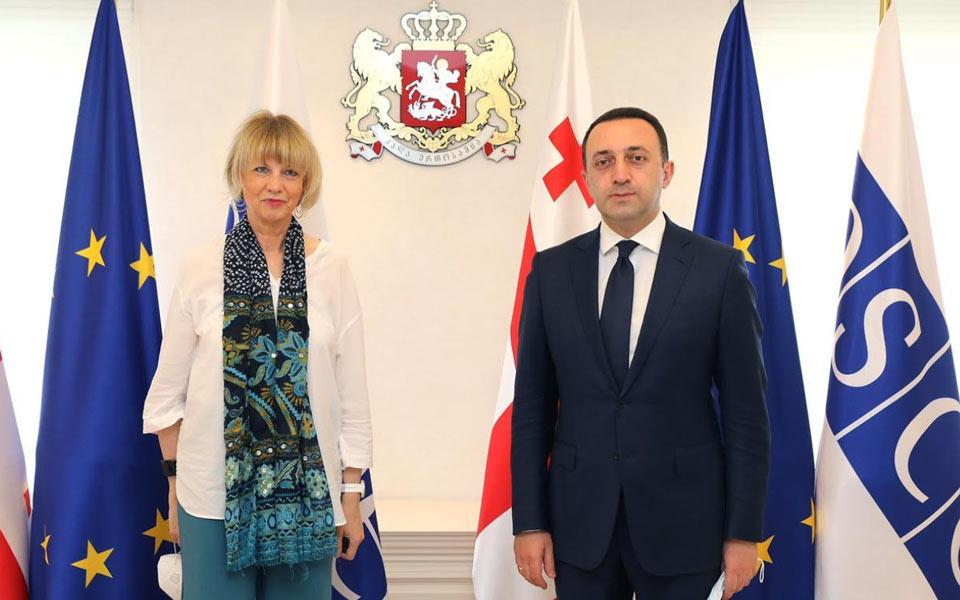 Georgian PM meets  OSCE Secretary General