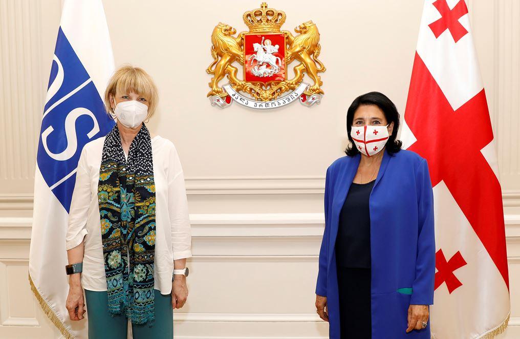 """Саломе Зурабишвили и генсек ОБСЕ договорились о проведении в Грузии конференции женщин-лидеров - """"Роль женщин в мире и безопасности"""""""
