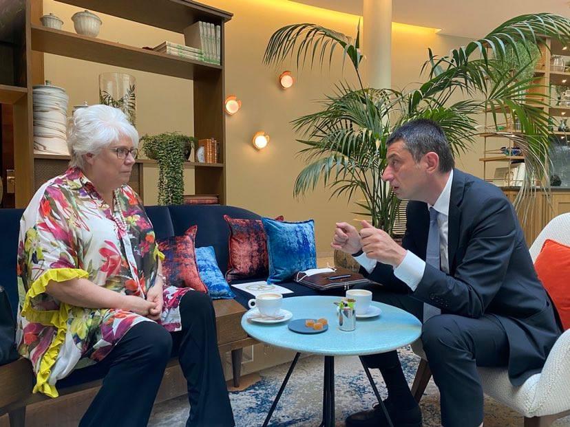 Георгий Гахария встретился в Брюсселе с Мариной Кальюранд