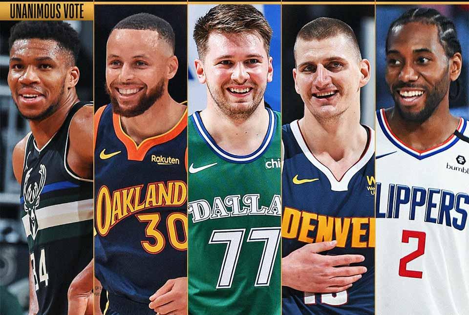 NBA-ს 2020-21 წლების სეზონის სიმბოლურში სამი ევროპელია #1TVSPORT