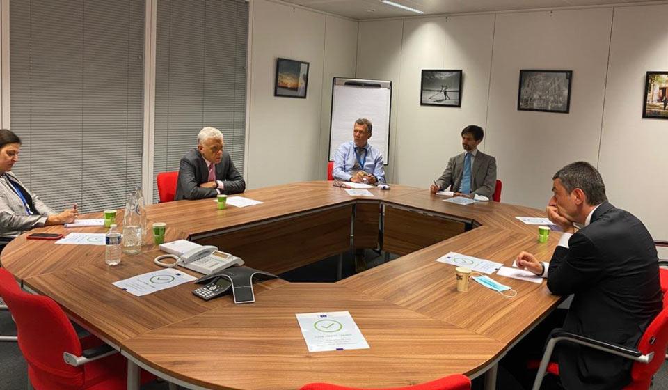 Giorgi Gakharia, Maciej Popovsky meet in Brussels