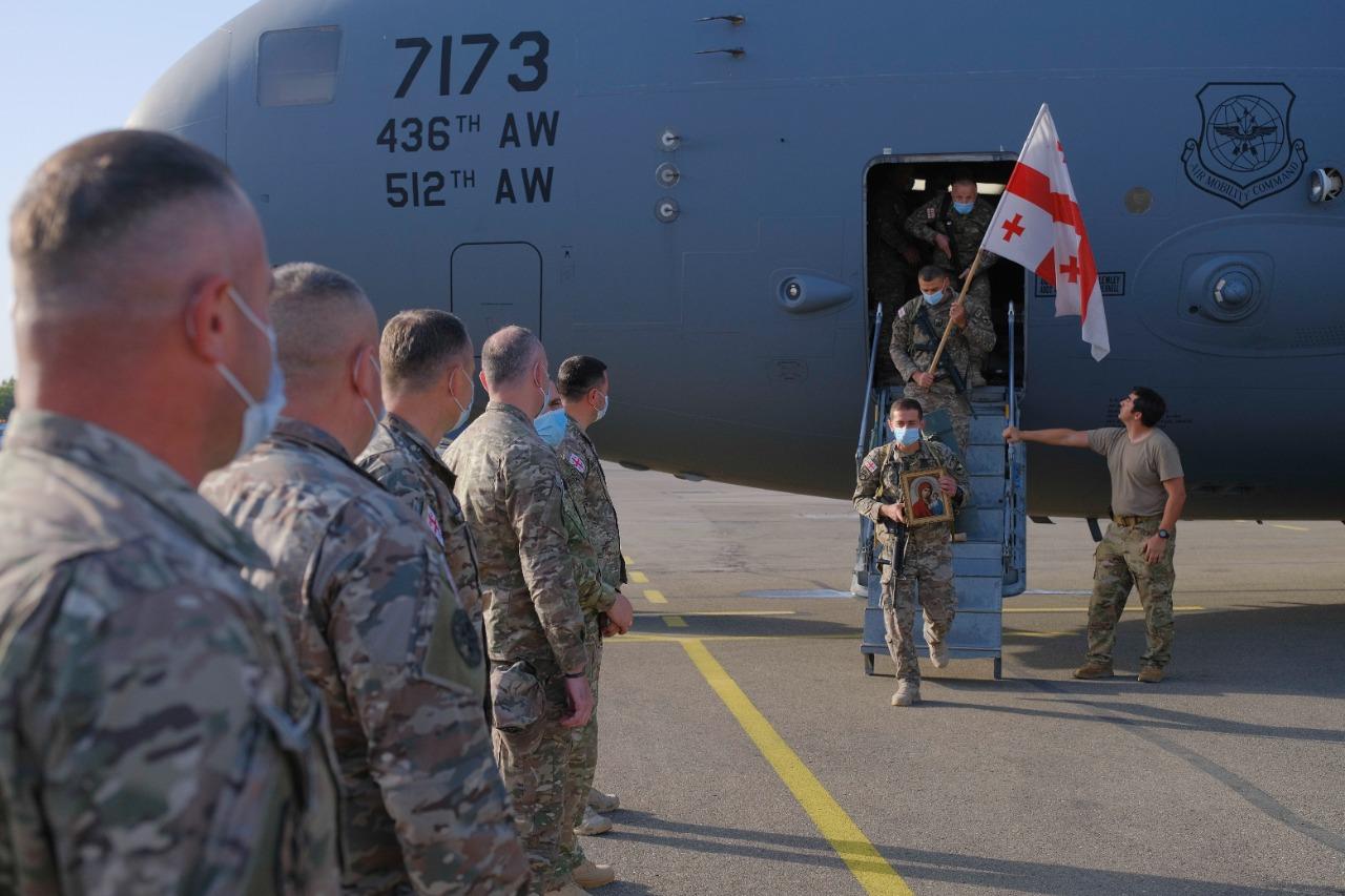Georgian soldiers to leave Afghanistan
