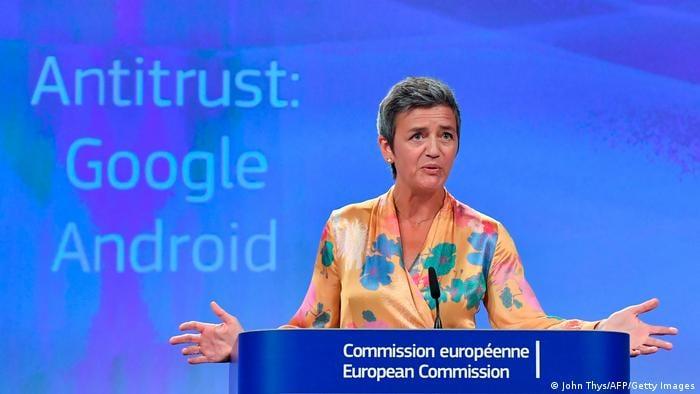 """ევროკავშირმა კომპანია """"გუგლის"""" წინააღმდეგ ანტიმონოპოლიური გამოძიება დაიწყო"""