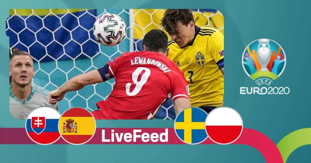 ევრო 2020 | სლოვაკეთი VS ესპანეთი 0:5, შვედეთი VS პოლონეთი 3:2 [ვიდეო] #1TVSPORT