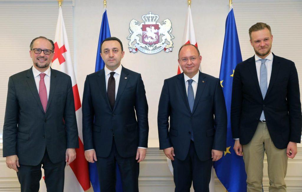 Министры иностранных дел Австрии, Румынии и Литвы встретились с Ираклием Гарибашвили
