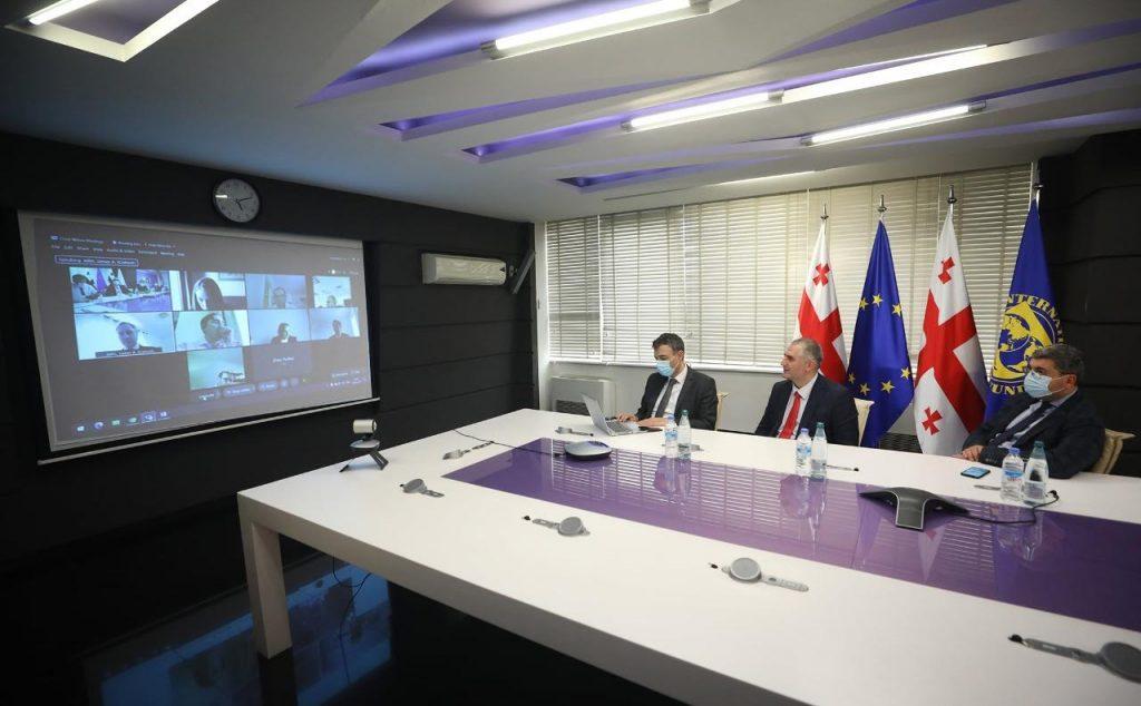 ლაშა ხუციშვილი საერთაშორისო სავალუტო ფონდის მისიას შეხვდა
