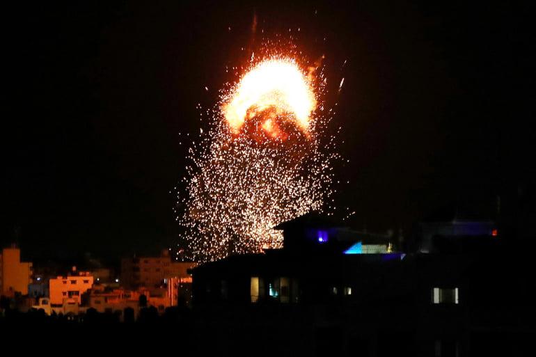 """ისრაელის სამხედრო ავიაციამ ღაზას სექტორში რადიკალური მოძრაობა """"ჰამასის"""" იარაღის ქარხანა დაბომბა"""