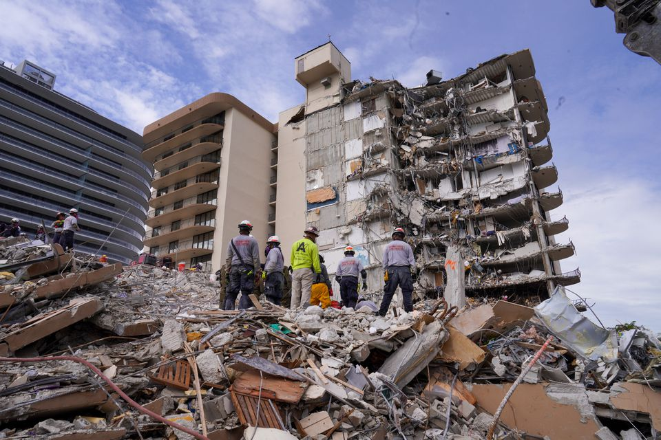 ფლორიდაში 12-სართულიანი სახლის ჩამონგრევის შედეგად დაღუპულთა რიცხვი 94-მდე გაიზარდა