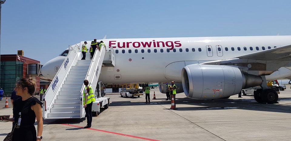 Немецкая бюджетная авиакомпания Eurowings вышла на рынок грузинских авиаперевозок