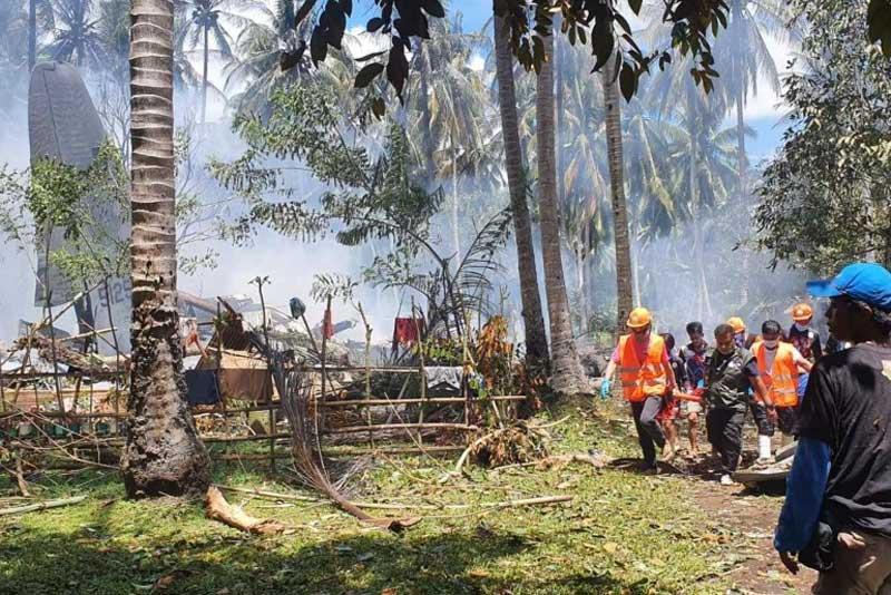 ფილიპინებში სამხედრო თვითმფრინავის კატასტროფის შედეგად დაღუპულთა რიცხვი 45-მდე გაიზარდა