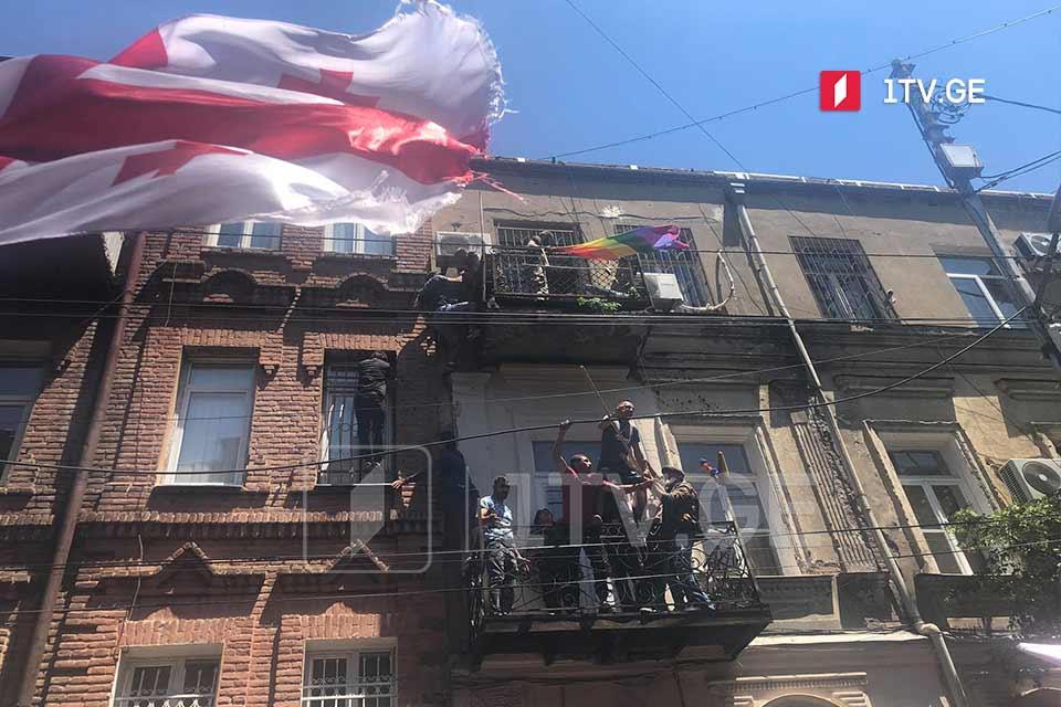 Anti-Pride protesters storm Tbilisi Pride office (VIDEO)