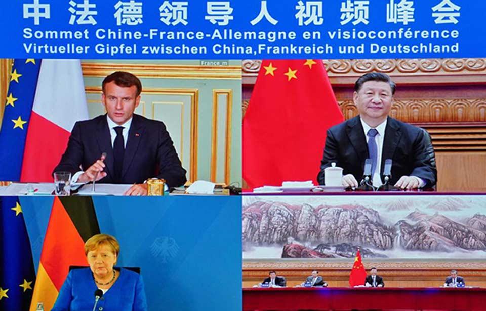 ანგელა მერკელმა, ემანუელ მაკრონმა და სი ძინპინმა ევროკავშირ-ჩინეთის ურთიერთობები განიხილეს