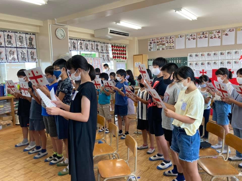ტოკიო 2020 | ტენრიოს დაწყებითი სკოლის მოსწავლეები საქართველოს ეროვნულ ჰიმნს სწავლობენ #1TVSPORT
