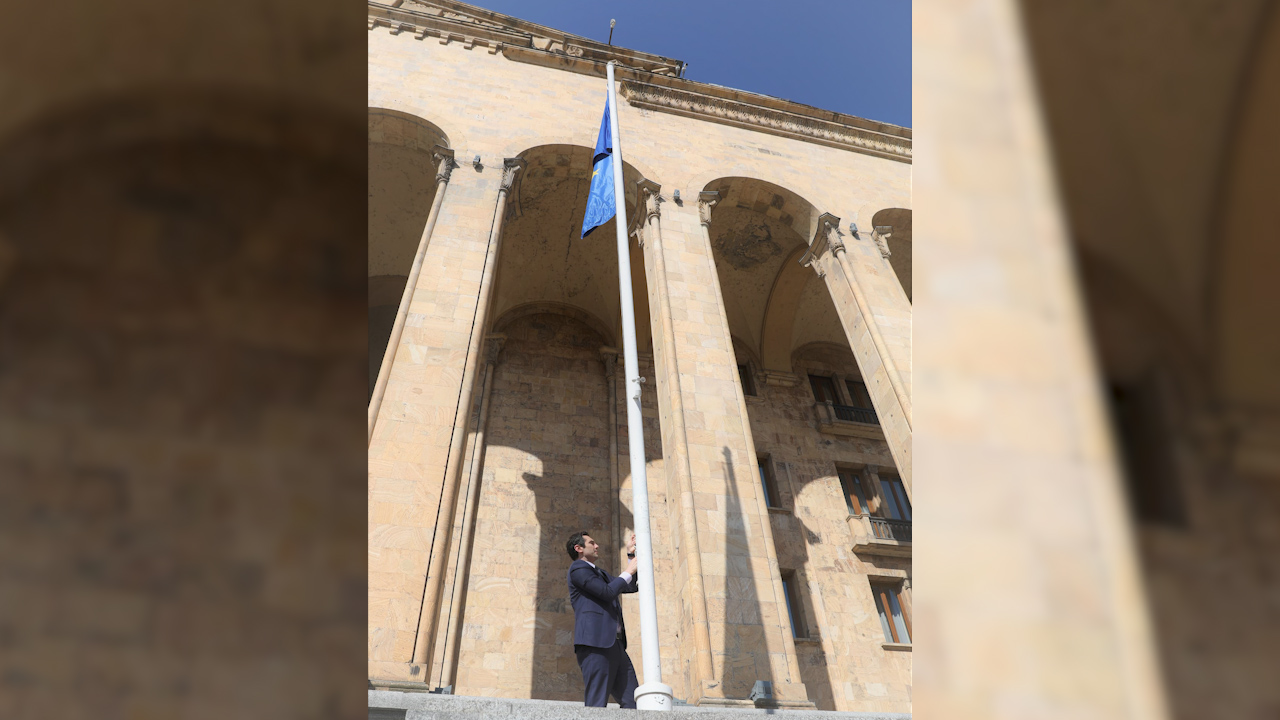 Parliament Speaker decries EU flag removal from Parliament building