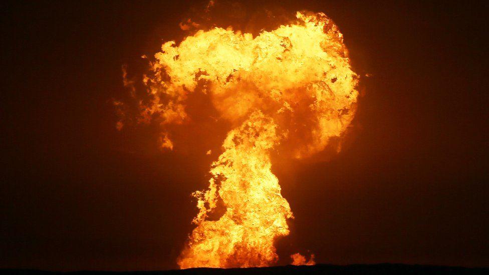 კასპიის ზღვაში, ნავთობის საბადოზე ტალახის ვულკანი ამოიფრქვა — #1tvმეცნიერება