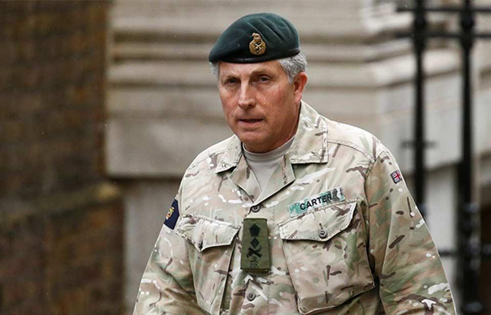 დიდი ბრიტანეთის შეიარაღებული ძალების მეთაური აცხადებს, რომ საერთაშორისო ძალების გარეშე შესაძლებელია, ავღანეთის სახელმწიფო ჩამოიშალოს