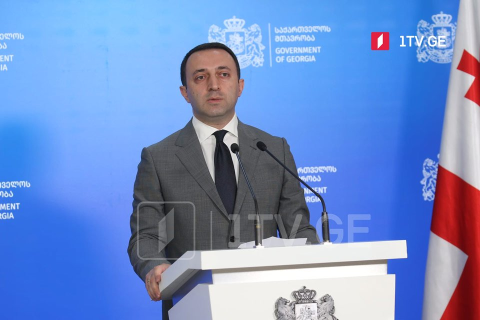 PM Garibashvili deems immoral using tragic death of TV Pirveli cameraman for political goals