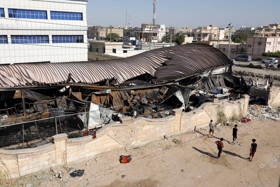 ერაყში კოვიდსაავადმყოფოში გაჩენილი ხანძრის შედეგად გარდაცვლილთა რიცხვი 92-მდე გაიზარდა