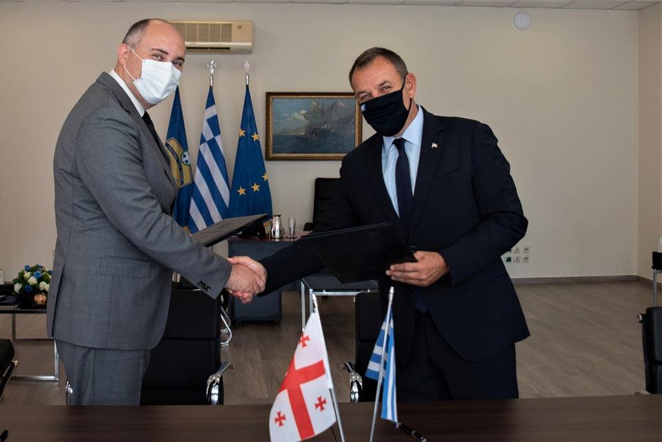 ჯუანშერ ბურჭულაძე საბერძნეთის თავდაცვის მინისტრს შეხვდა